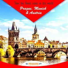 :: Tour the finest cities in the world Prague, Munich & Austria :: Prague the city of a hundred spires is rich in outstanding monuments from all periods of history. Munich is famous for beautiful churches, museums, and galleries. Austria is popular for its mountain villages, baroque architecture, famous palaces and rugged Alpine terrain.  Book Here >> http://dv0.co/Ds