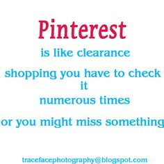 Pinterest is like clearance shopping...