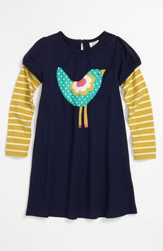 Mini Boden 'Fun' Logo Dress (Toddler, Little Girls & Big Girls) available at #Nordstrom