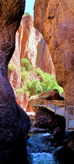 Catwalk in Whitewater Canyon, Gila Wilderness, New Mexico. photo by Kevin Wynkoop
