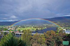Rainbow over Huonville, TAS