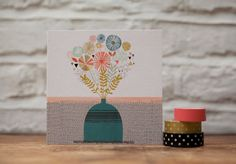 Flora and Fauna Card by HelloPaperMoon on Etsy