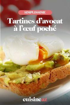 Cette recette de tartines avec un l'œuf poché et de l'avocat est déjà un classique. #recette#cuisine #tartine #avocat #oeuf #oeufpoche