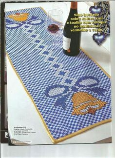 Resultado de imagem para toalha xadrez bordada