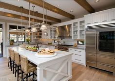 Kitchen Ideas. Kitchen Island Pendants are Hudson Valley 7315-PN Haverhill Polished Nickel Pendant Pendant. #KitchenIdeas #kitchen