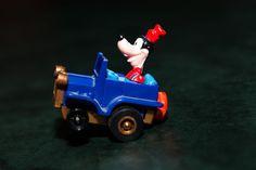 Disney Goofy Figure Driving Jeep Car