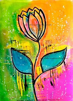 Original Art - Mixed Media Flower - product images  of