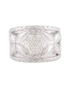 Kawung Diamond Pavé Tapered Ring, Size 7 by John Hardy at Neiman Marcus Last Call.