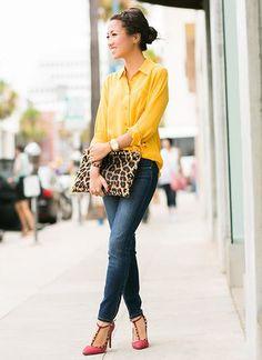 La chemise jaune printemps