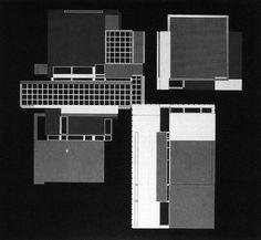 Peter Eisenman, House X, Plan, 1979