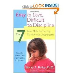 Recently reading this one by Becky Bailey... she is all the rage in early childhood.