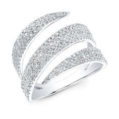 14KT White Gold Diamond Bandeau Ring