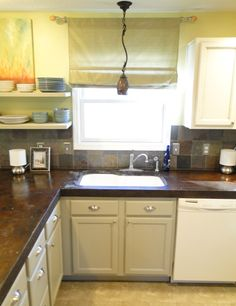 Concrete Counter tops look so good and are way less expensive than granite
