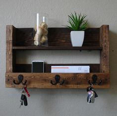 reclaimed wood wall with shelf - Google Search