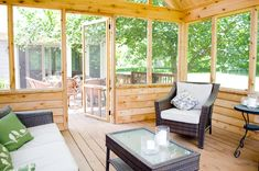 Free-Standing Screened In Porch Interior (Zionsville, IN) Free-Standing Screened…