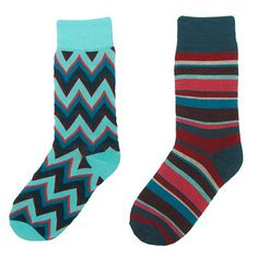 Zag Stripe Socks 2PK Summer, $16, now featured on Fab.