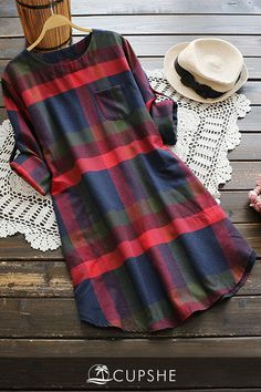 30 Chic Fall Outfit Ideas – Street Style Look. 34 Fresh Street Style Outfits Every Girl Should Try – 30 Chic Fall Outfit Ideas – Street Style Look.Cupshe Walk the Shine Plaid Dress Product Code: Details: Plaid pattern Zip&Pocket at side Regular wash Look Fashion, Autumn Fashion, Fashion Outfits, Fashion Clothes, Dress Fashion, Plaid Fashion, Christmas Fashion, Fashion Black, Fast Fashion