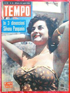 Actress SILVANA PAMPANINI, Italian magazine cover 1953, via Zellaby on Flickr.