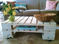 wooden coffee table  Pallet coffee table also cool!