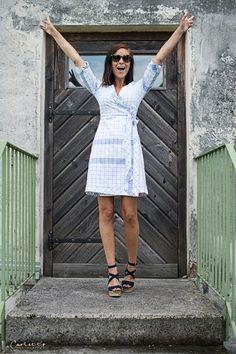 Kuchl Kouture Wickelkleid Palla Vienna Vienna, White Dress, Shirts, Dresses, Fashion, Kleding, Nice Asses, Vestidos, Moda