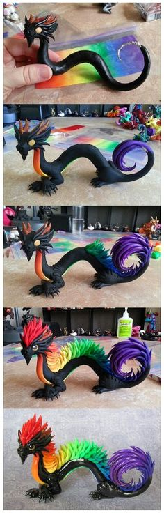 Dragons colorés