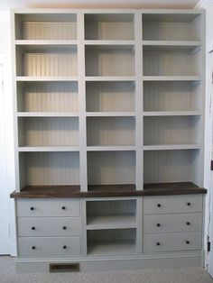 Can you believe it's IKEA? Built-in Bookshelves with RAST drawer base - IKEA Hackers