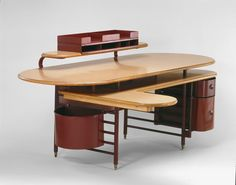 Designed by Frank Lloyd Wright  American, 1867-1959  Made by Steelcase, Inc.  American, established 1912, Desk