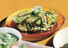 Shaved Zucchini Salad with Parmesan and Pine Nuts - Had this salad this weekend, and it was so, so, so good.
