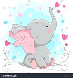 Find Cute Elephant Vector Illustration Cartoon Hand stock images in HD and millions of other royalty-free stock photos, illustrations and vectors in the Shutterstock collection. Baby Elephant Drawing, Cute Elephant Cartoon, Mom And Baby Elephant, Elephant Art, Elephant Nursery, Baby Elephants, Indian Elephant, Cartoon Cartoon, Cute Drawings