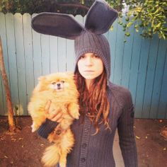 Whitney Mixter rocking her Blamo Bunny Onesie. @WhitneyMixterLA @Blaine Lamorandiere Toys