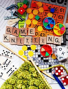 A knitting concept that can turn a simple pattern into a randomized one-of-a-kind piece by turning the act of knitting it into a game.