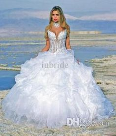 2015 White Sweetheart In Stock Wedding Dresses Beads Sequins Ball Gown Full Length Beach 100% Real Photo Cheap Fashion Bridal Gowns Ball Gown Prom Dress Ball Gown Wedding Dresses With Sleeves From Iubride, $77.44| Dhgate.Com