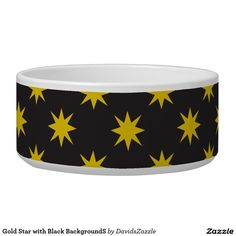 Gold Star with Black Background Dog Bowl This design is available  on many products! Click the link and hit the 'Available On' button near the product description to see them all! Thanks for looking!  @zazzle #star #pattern #decor #home #design #dog #bed #pet #animal #friend #family #accessory #accessories #buy #sale #shop #shopping #owner #fun #sweet #fido #woof #awesome #cool #chic #modern #style #bed #collar #leash #bowl #tag #color #blue #navy #black #purple #orange #grey #gray #gold…