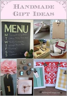 A list of easy, inexpensive Handmade Gifts on An Oregon Cottage