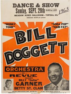 Bill Doggett Meadow Acres Ballroom Concert Poster (1963). | Lot #89235 | Heritage Auctions