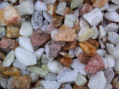 The Colours of Pink, Yellow, White & Green Marbles are all mixed in one bag. Decorative Gravel, Green Marble, Marbles, Flower Beds, Pink Yellow, Color Mixing, Dog Food Recipes, Ornament, Colours
