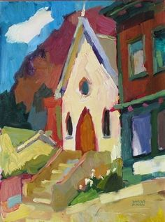۩۩ Painting the Town ۩۩  city, town, village & house art - Larisa Aukon
