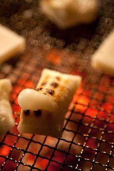 grilled mochi