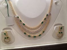 CZ's Necklace - Indian Jewellery Designs South Jewellery