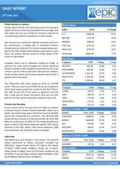 Epic research special report of 29 june 2015 by Epic Research Private Limited via slideshare