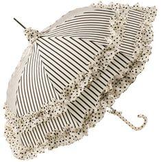 Pagoda Umbrella with Spotty Flounce and Stripes by Lisbeth Dahl