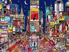 Times Square New York jigsaw puzzle by Ceaco