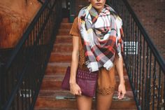 Admit it ladies, we all love these scarves! Head back to campus and stay warm in our Orange/Brown Blanket Scarf while staying trendy and stylish!  Orange/Brown Blanket Scarf - Single Thread Boutique, $30.00  #orange #brown #blanket #scarf #warm #cozy #oversized #fall #accessory #trendy #womens #fashion #singlethreadbtq #shopstb #boutique