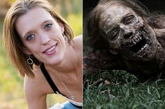 Melissa Cowan / Bicycle Girl - The Walking Dead season one | The 16 Best Special Effects Makeup Before And Afters
