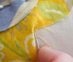 Needleturn applique tutorial - where you snip makes a difference...no random snipping.