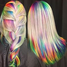 """747 Likes, 9 Comments - DIY Projects (@diyprojectsdotcom) on Instagram: """"How about transforming into a rainbow for summer? #HairGoals right here! If you ever end up doing…"""""""