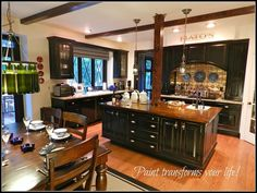 """""""One Special DIY Madeover Kitchen""""~Our favorite room to share these special years together while our children grow up...BOTTLE CHANDELLIER"""