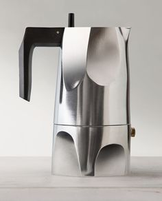 17 Modern Coffee Makers That You'll Want To Show Off // This moka pot coffee maker was inspired by the original design of the moka pot as well as by the unique form of the volcanic stone after which it's named.