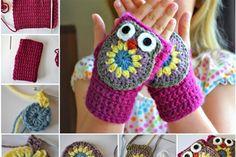 Owl mittens - Craftsmile