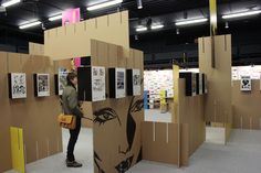 Exhibition design | display boards |  structural cardboard